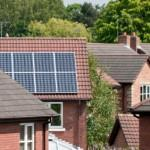 Solar PV panels on a British roof