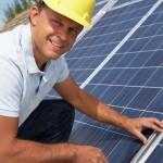 Solar PV panel installer