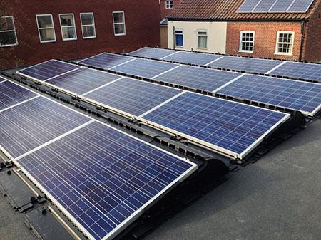 solar pv panels on flat roof