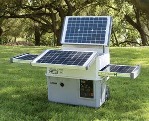 photo of a portable solar generator