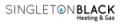 Singleton Black Heating and Gas