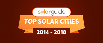 Which are the Top Solar Cities 2014 - 2018?